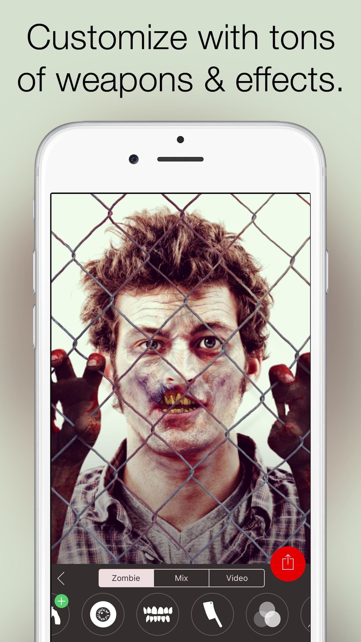 Screenshot do app Zombify - Turn into a Zombie