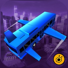 Activities of Flying Bus City Stunts Simulator - Collect stars by performing stunts in 3D modern city