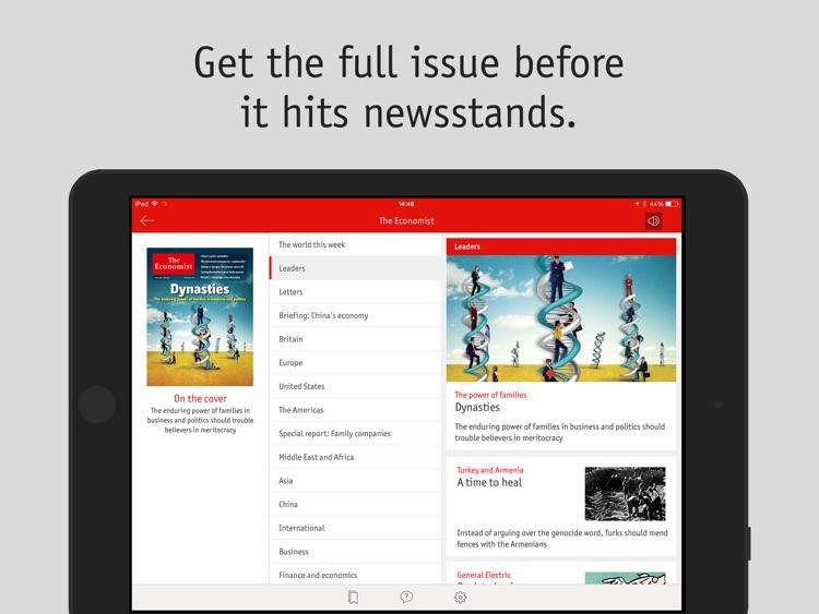 The Economist weekly EU iPad