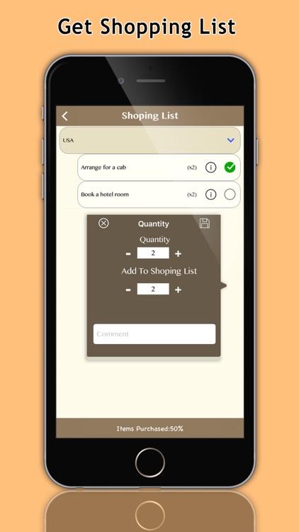 Get up & Go Smart Packing List screenshot-4