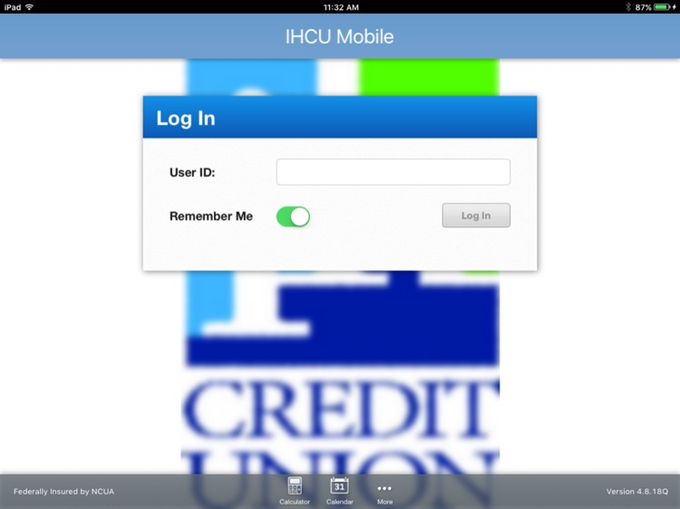 IH Credit Union Mobiliti™ for iPad