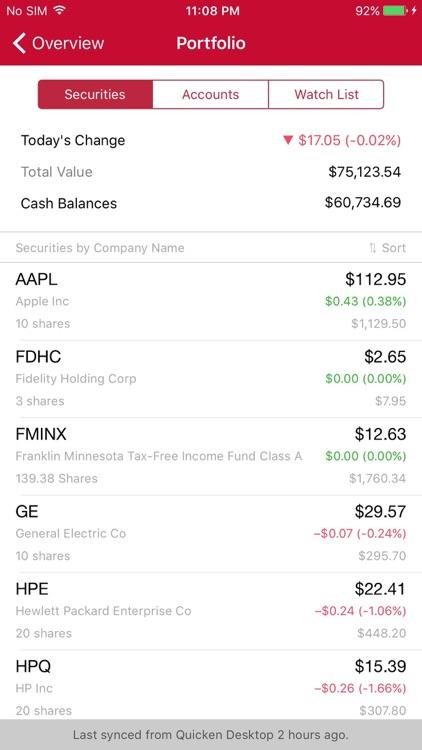 Quicken Mobile screenshot-3