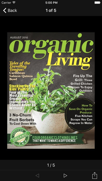 Organic Living Magazine screenshot-1