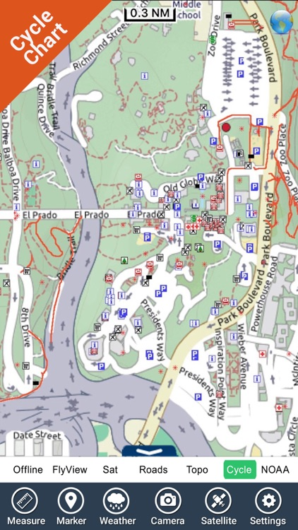 Balboa Park (San Diego) - GPS Map Navigator