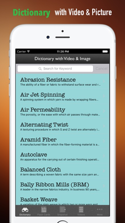 Textile and Apparel Glossary-Video and Study Guide screenshot-3