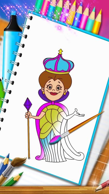 princess mandala coloring book