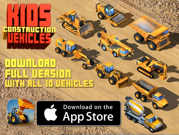 Kids Vehicles: Construction HD Lite for the iPad screenshot-3
