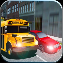 3D School Bus Driving Simulator 2016 - Drive school bus and pickup school boys and girls and  avoid heavy traffic in city