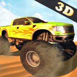 4x4 offroad monster truck - police car driving 3D