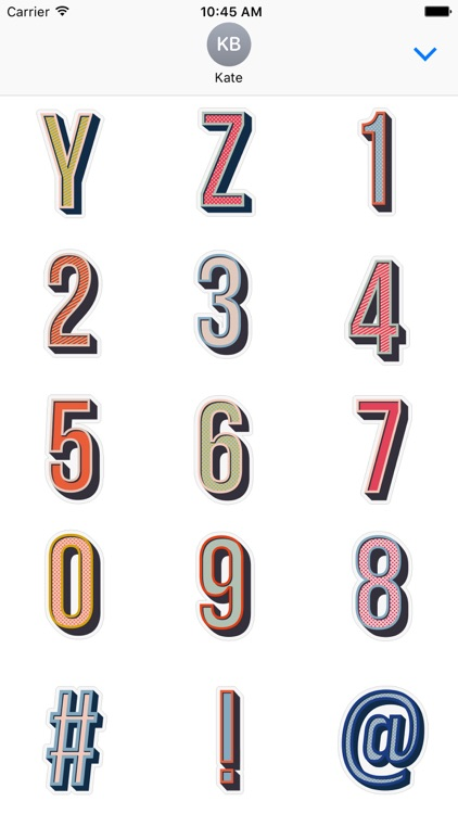 Anya Hindmarch Alphabet Stickers