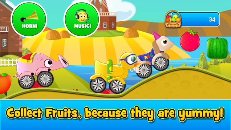 Animal Cars Kids Racing Game screenshot-4