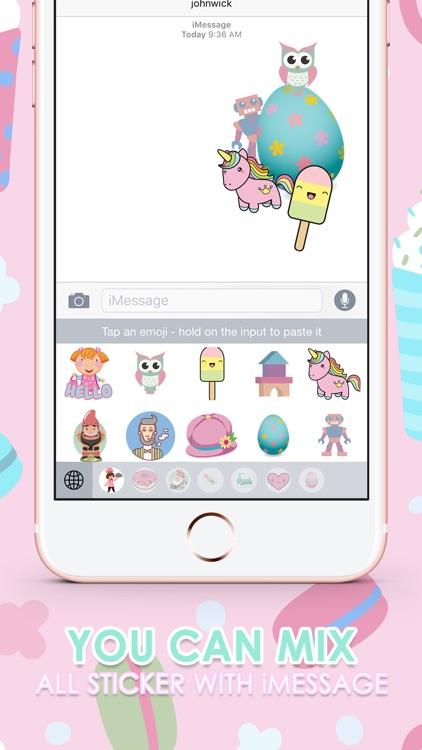Pastel Emoji Stickers Keyboard Themes ChatStick
