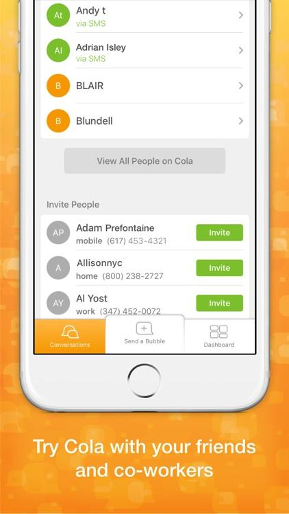 Cola Messenger screenshot-3