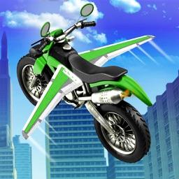 Flying Motor Bike Stunt 3D; Futuristic Simulator