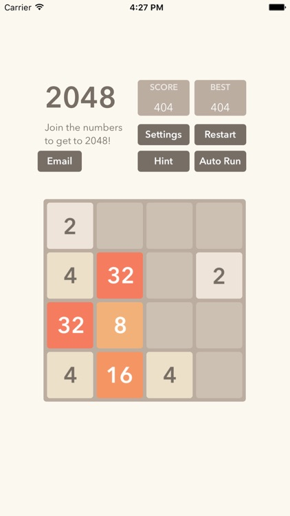2048 tile number puzzle math game