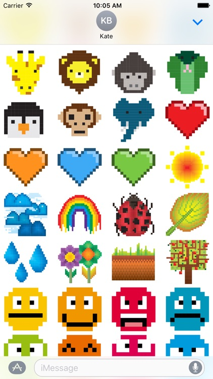 8-bit Stickers for iMesssage screenshot-3