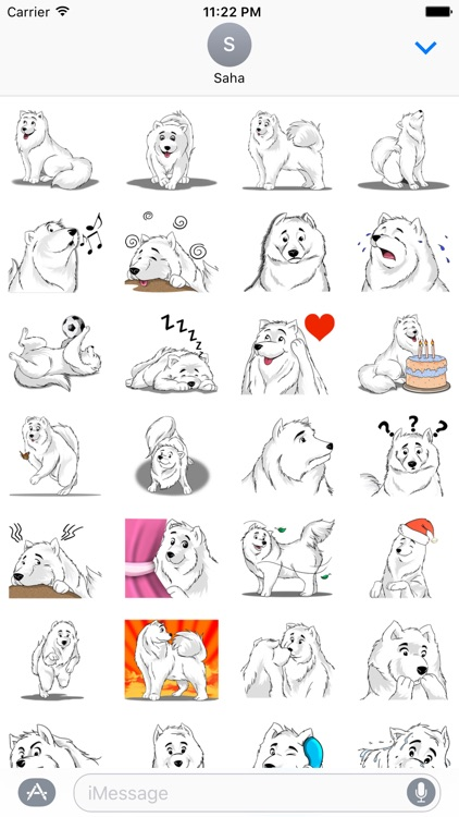 Snow Dog Stickers