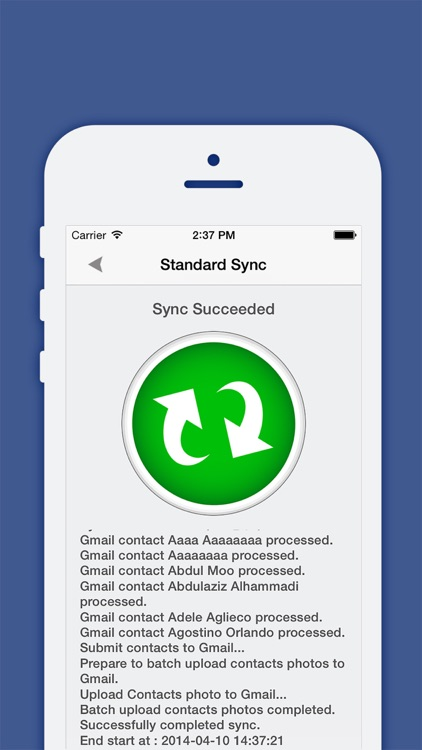 Contacts Sync, Backup & Clean Pro for Google Gmail screenshot-4