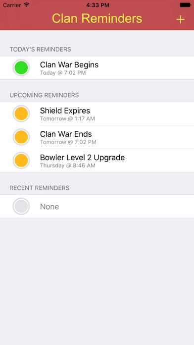 Clash Reminders screenshot one