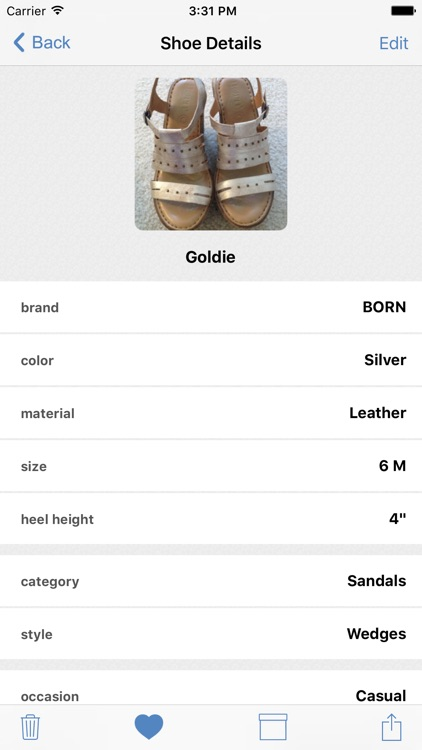 myShoeCache: Shoe Organizer screenshot-3