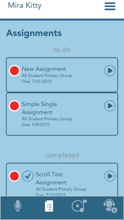Charms Blue – Student App screenshot-2