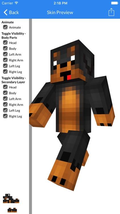 Super Dog Wolf Skins Dog Wolf Skins For MCPE By KHUSHBU VORA - Skins para minecraft pe wolf