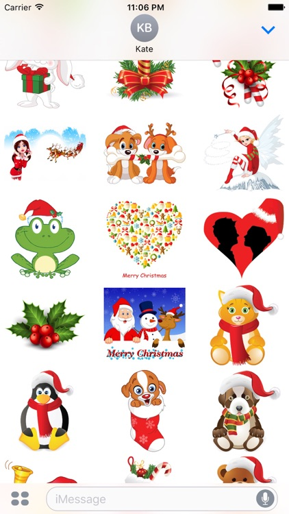 Christmas Stickers + Smiley for iMessage