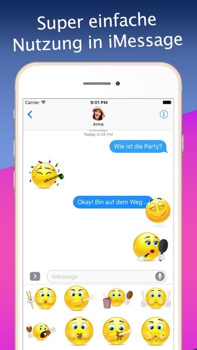 3D Emoji-Aufkleber für iMessageScreenshot von 3