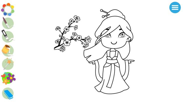 Kids Princess Coloring Books screenshot-4