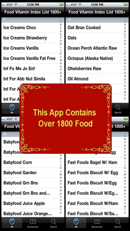 Food Vitamin Index List 1800+ screenshot-3