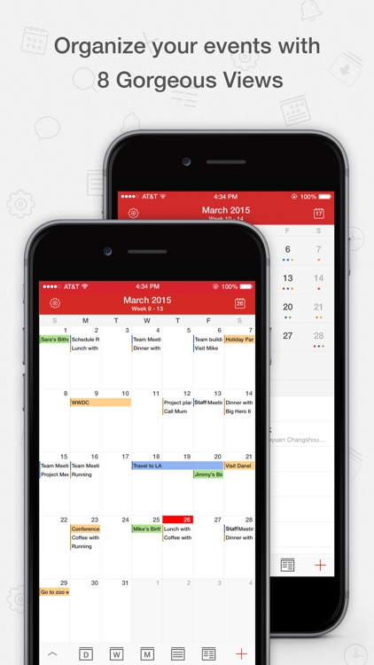 Tiny Calendar Pro - Sync with Google Calendar