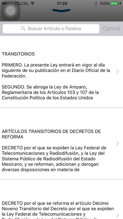 Ley de Amparo, Reglamentaria de la Constitución screenshot-4