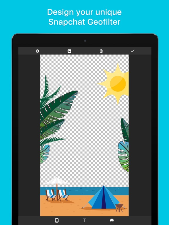 Screenshot 1 For Geofilter Maker