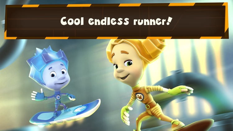 Fixie Surfer endless runner, racing games for kids