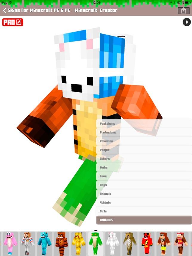 Skins For Minecraft PE PC Free Skins On The App Store - Skin para minecraft pe de unicornio