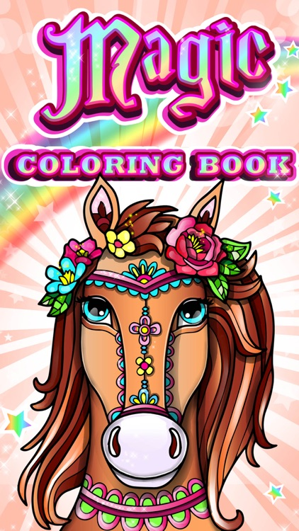 Magic Pony Coloring Book for Adults My Little Art!