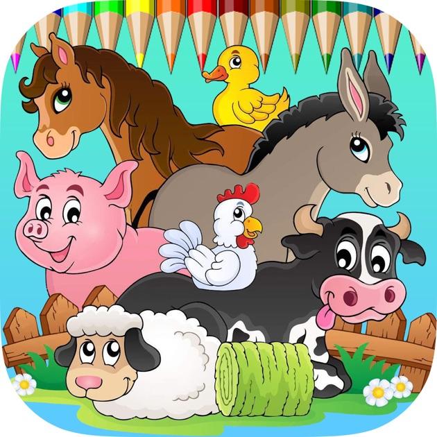 Animaux de ferme jeux gratuits pour les enfants coloring - Jeux pour dessiner gratuit ...