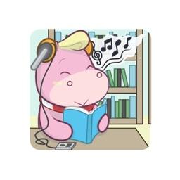 Cute Pink Rhino sticker pack