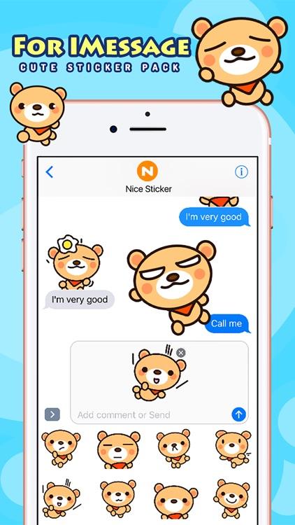 Fly Bear - Cute Stickers by NICE Sticker screenshot-4