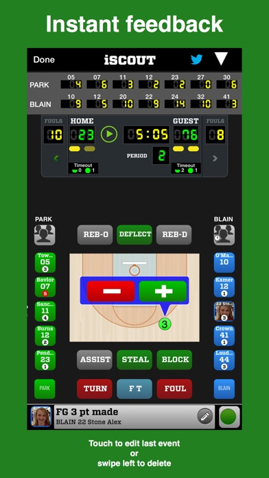 iScout Basketball Скриншоты3