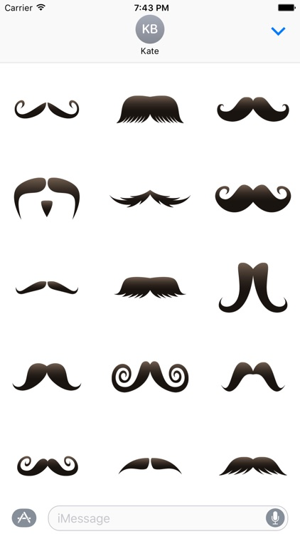 Moustache Photobomb Stickers for November