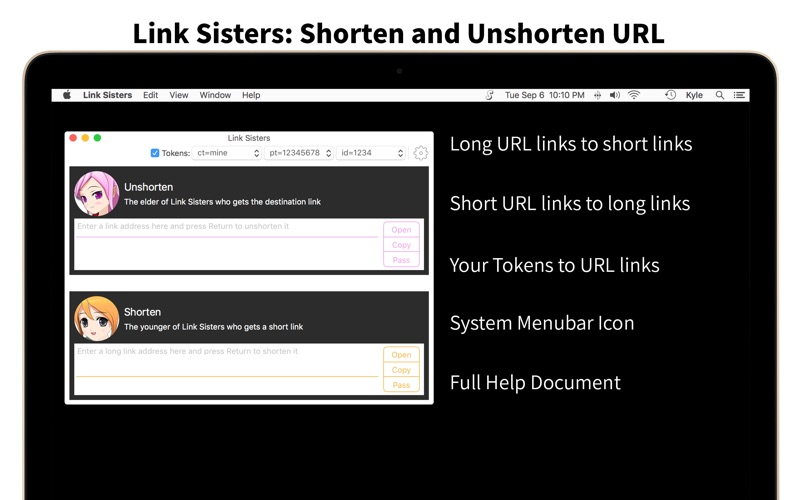 Link Sisters: Shorten and Unshorten URL