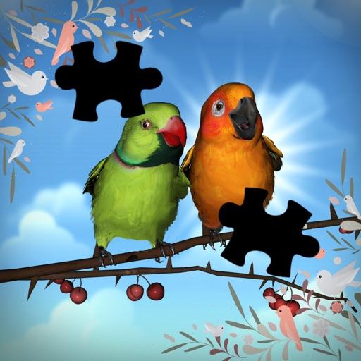 Tap Bird Cartoon Background Jigsaw Puzzle Game