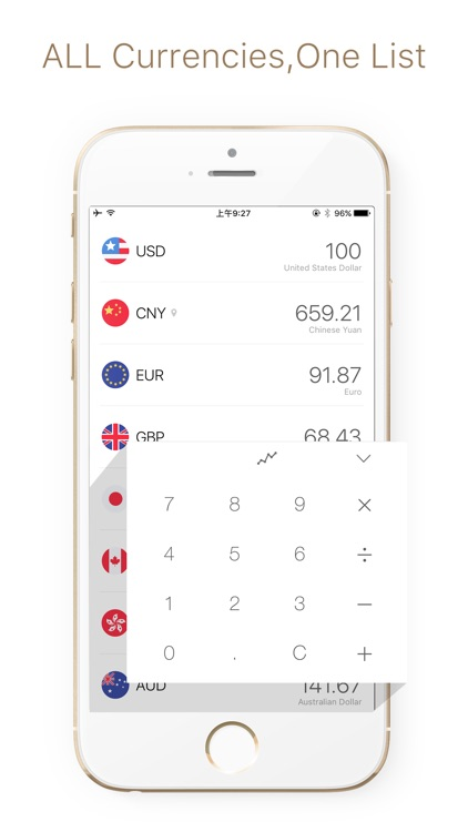 clear currency - money converter & exchange rate