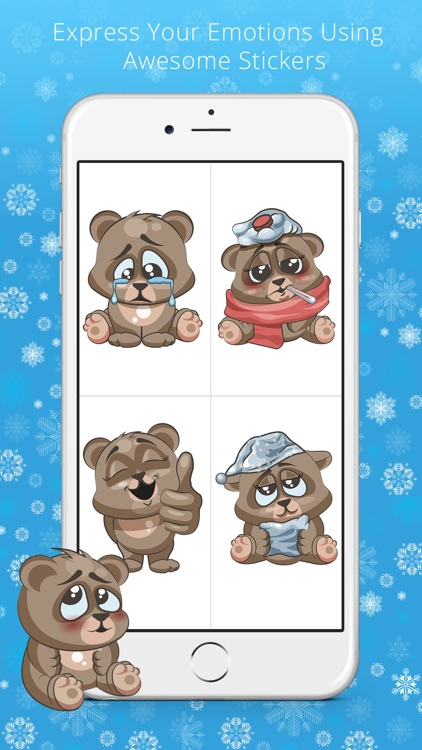 Cuddlebug Teddy Bear Emoji  -Stickers screenshot-4
