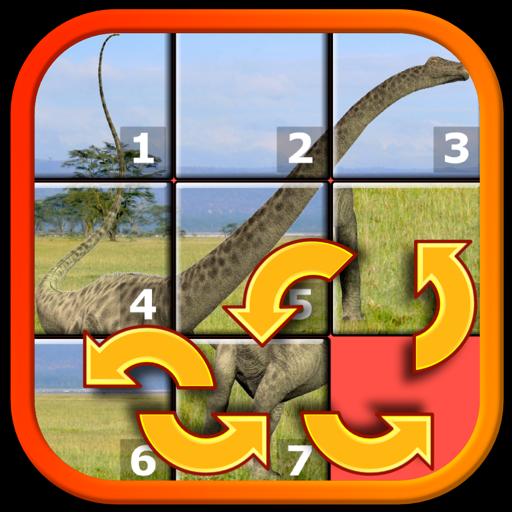 Для детей динозавр Рекс слайд головоломки 15