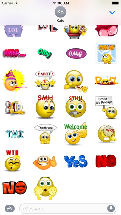 OMG Animated Stickers Pack
