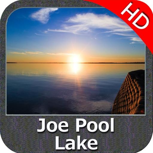Joe Pool Lake Texas HD GPS fishing chart offline