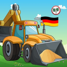 Learn German for Kids- First Words Trucks Puzzles