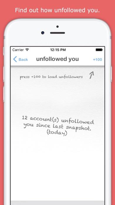 Unfollow For Twitter review screenshots